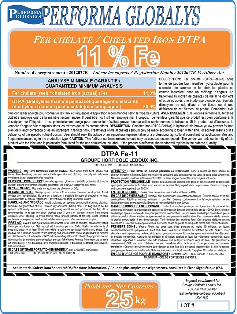 Boutique GHL Pro  Chelated Iron 11% DTPA