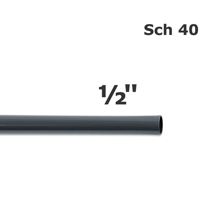 Picture of PVC sch 40 gray pipe 1/2'' (20')