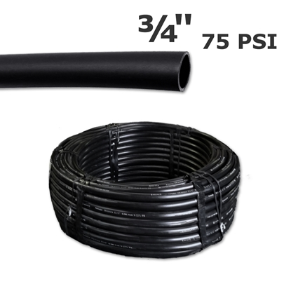 "Picture of Black poly pipe 3/4"" 75 psi (400')"