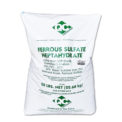 Picture of Iron sulphate 20% Fe QC Corporation 22.7kg