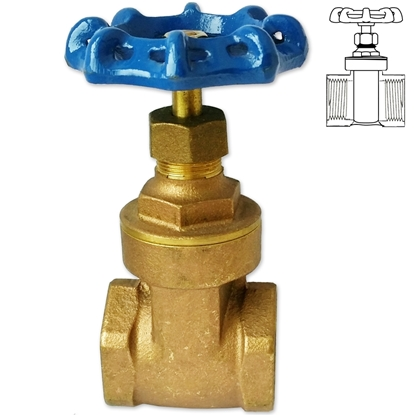 Picture of Brass female threaded gate valve