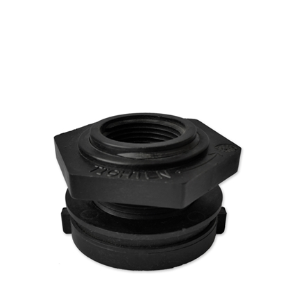 Picture of Black 1'' FPT tank adapter