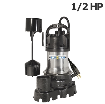 Picture of Submersible Burcam 1/2HP 115V pump with vertical switch